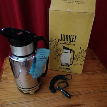 Vintage CORY Jubilee D18P 18-Cup Automatic Electric Coffee Percolator New in Box