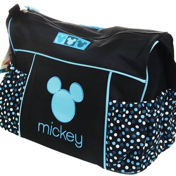 Disney Minnie Mouse Diaper Bag Travel Changing Large Baby Boy Tote Dots