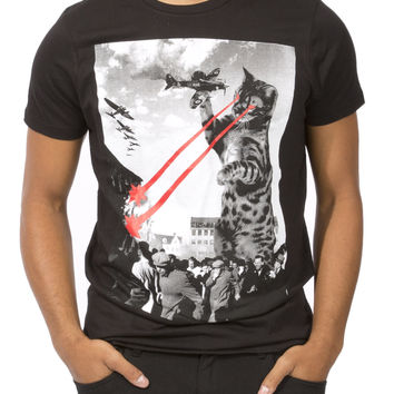 Guys Godzilla Kitty Graphic Tee