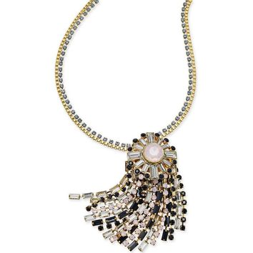 Kate Spade NY Women's 'Clink of Ice' Jeweled Fringe Pendant Necklace