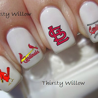 St. Louis Cardinals Nail Decals Water Transfers