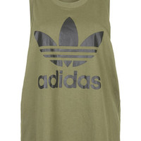 Trefoil Tank by adidas Originals - Olive