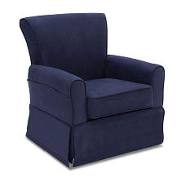 Delta Children Benbridge Nursery Glider Swivel Rocker Chair - Navy
