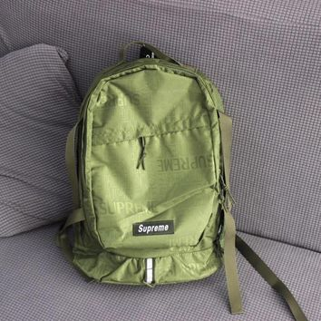 """Supreme"" Men Casual Fashion Letter Backpack Large Capacity Travel Double Shoulder Bag"