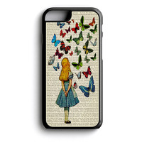 Alice In Wonderland Book Butterflies iPhone 4s iPhone 5 iPhone 5c iPhone 5s iPhone 6 iPhone 6s iPhone 6 Plus Case | iPod Touch 4 iPod Touch 5 Case