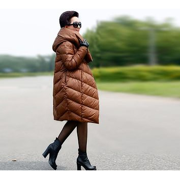 2017 new big yards loose cocoon jacket down jacket was thinHot Products Women's plus size