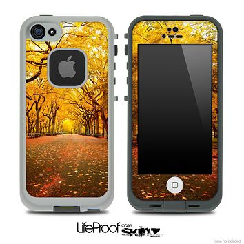 Fall Country Road Skin for the iPhone 5 or 4/4s LifeProof Case