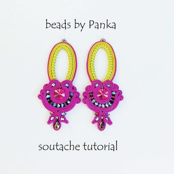 Soutache tutorial.Soutache Earring Tutorial .
