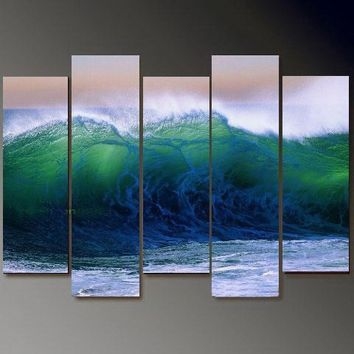 100% Hand Painting Modern Abstract On Huge Quality canvas prints set of 5 pcs PRINT-d17(No Frame)