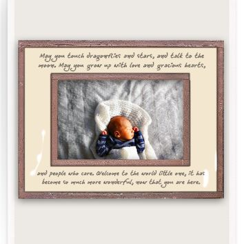 May You Touch Dragonflies Copper & Glass Photo Frame