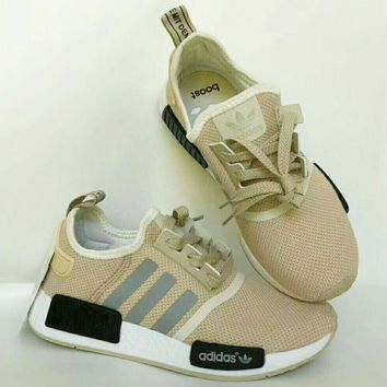 Adidas NMD Women Men Fashion Trending Sneakers Running Sports Shoes Khaki G-CSXY