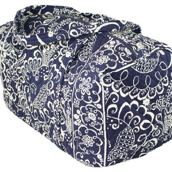 Vera Bradley Large Duffel in Twirly Birds Navy