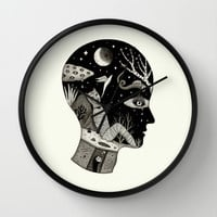 Distorted Recollection of a Dream About Death Wall Clock by Jon MacNair