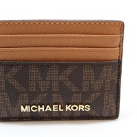 Michael Kors Jet Set Travel Large Card Holder Brown/ Acorn