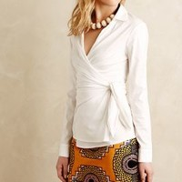 Sosie Wrap Blouse by Bailey 44 White