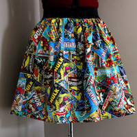 Marvel Comics, Womens Skirts, Geekery, Geek Clothing, Colorful Marvel Comics Superhero Skirt