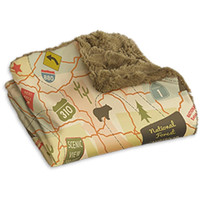 Camping Throw - Travel Map