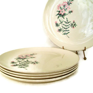 Mid Century Vintage Taylor Smith Taylor Dinner Plates Ever Yours Lady Marguerite Pattern