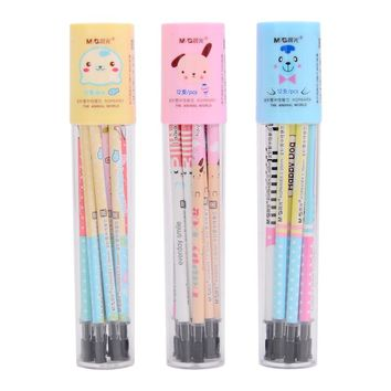 12 pcs/lot Kawaii Cute Black 0.35mm School Supplies Writing Bear Pig Lion Gel Ink Pen Refills Office School Supplies Stationery