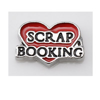 Scrapbooking Red Heart Floating Charm