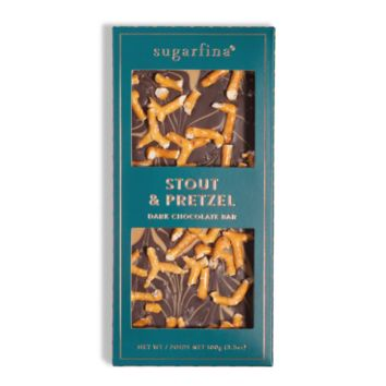 Stout and Pretzel Dark Chocolate Bar