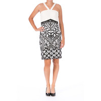Sue Wong Womens Mesh Embroidered Cocktail Dress