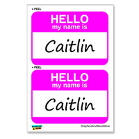 Caitlin Hello My Name Is - Sheet of 2 Stickers