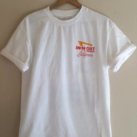 NEW!! IN-N-OUT white tee