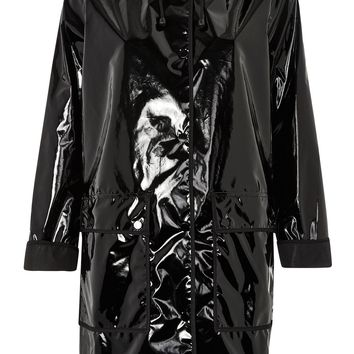 Vinyl Hooded Rain Mac