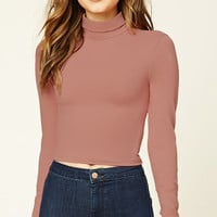 Cropped Knit Turtleneck