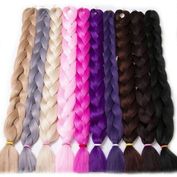 ONETOW VERVES Braiding Hair one piece 82 inch Synthetic High Temperature Fiber 165g/piece pure color Jumbo Braid Hair Extensions