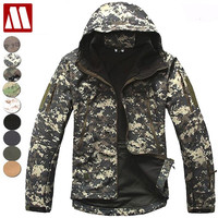 Hooded Men's Military Tactical Jacket Lurker Man Shark Skin Softshell Jackets Windproof Waterproof Army Coat Camouflage Clothing