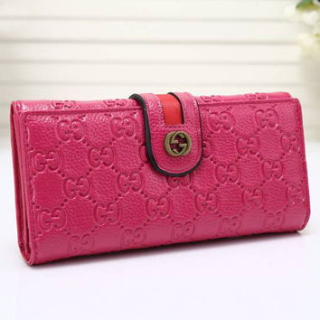 Gucci Women Leather Purse Wallet