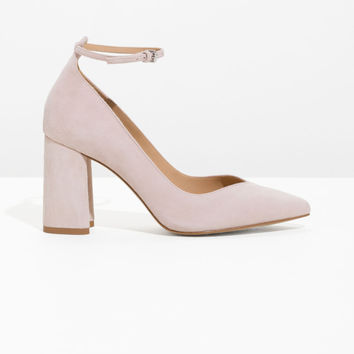 Ankle Strap Pumps - Pink - Pumps - & Other Stories US