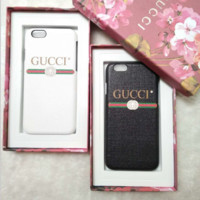 GUCCI Fashion iPhone Phone Cover Case For iphone 6 6s 6plus 6s-plus 7 7plus hard shell G