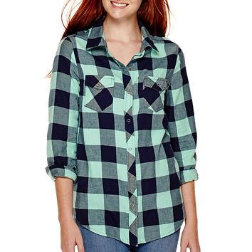 Arizona Long-Sleeve Plaid Shirt - JCPenney