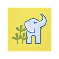 Elephant in the Jungle Canvas Print