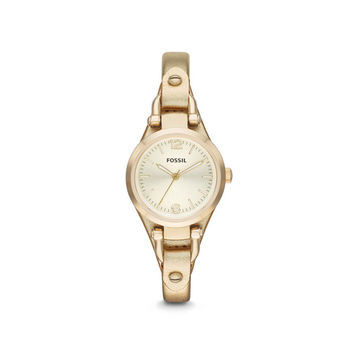 Fossil Women's Georgia Three-Hand Leather Watch | Overstock.com Shopping - The Best Deals on Fossil Women's Watches