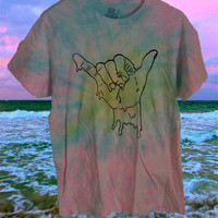 CUSTOM DYED. melting hang loose shirt