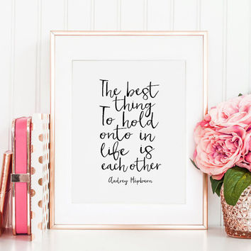 PRINTABLE Art, Audrey Hepburn Wall Art,Quote Prints,Poster Wall Art,Girls Room Decor,Quote Prints,Typography Wall Art,printable Decor,Quote