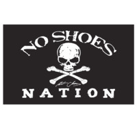 Kenny Chesney No Shoes Nation BLACK Flag-3' X 5' Large Flag w/ Grommets - Kenny Chesney
