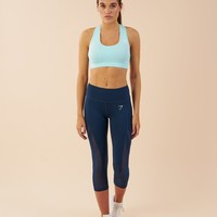 Gymshark Sleek Sculpture Cropped Leggings - Sapphire Blue
