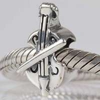 Music Note Charm 925 Sterling Silver Art Melody Charm for Pandora Charms Bracelet