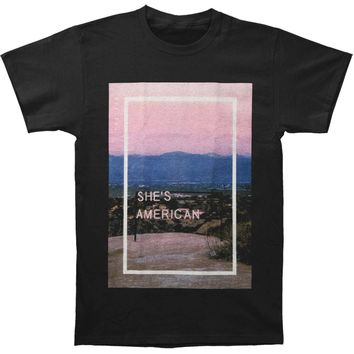 1975 Men's  She's American T-shirt Black