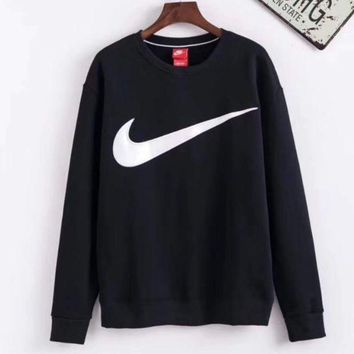 ESBHD2 Nike Black Pullover Long Sleeves Tops Sweater Sweatshirt