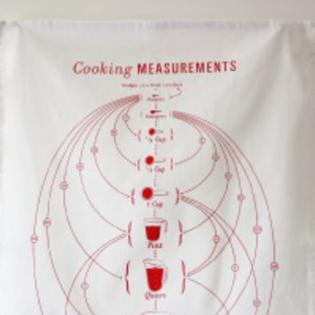 Oversized Cooking Measurements Tea Towel