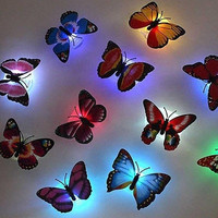 1pc Pretty LED Butterfly Night Light Home Decoration Lamp Wedding Christmas Gift = 1945873860