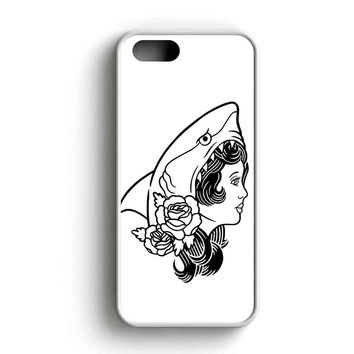 Macklemore And Ryan Lewis Shark Face Gang Original Illustration Black And White iPhone 5 Case iPhone 5s Case iPhone 5c Case