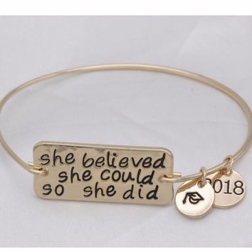 Inspirational  Bangles she believed she could so she did bangles