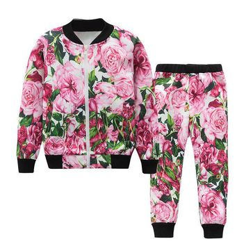 Girls Clothing Sets Girls Clothes Long Sleeve Sweatshirts+Pants Kids Clothing Sets